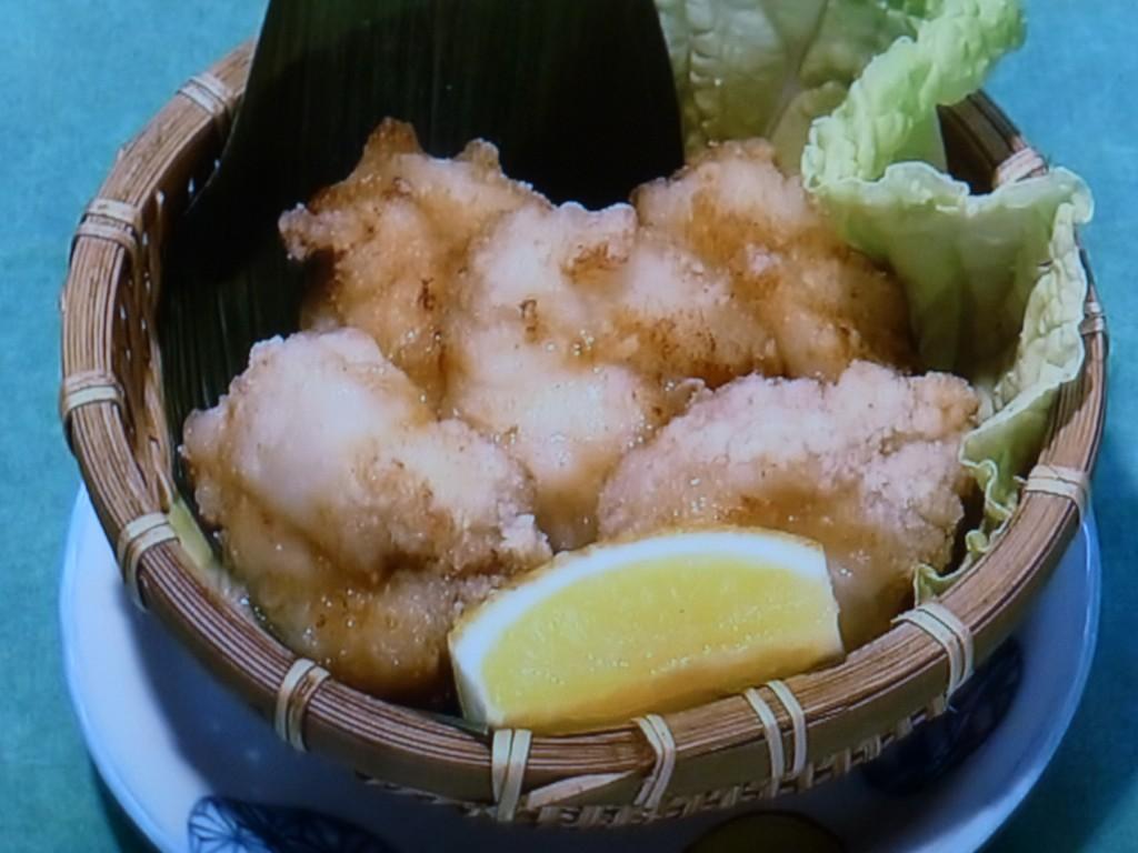 軟骨も食べられるアンコウのから揚げは、とり肉に似る