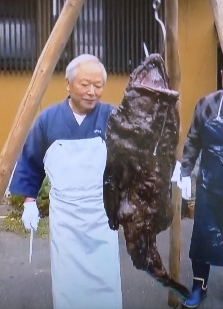 古くからの産地である福島や茨城など常磐地方に見られる伝統の「吊るし切り」